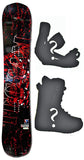 149cm  Spoon Teccam TC Red Rocker Snowboard, Build a Package with Boots and Bindings