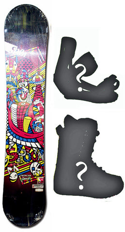 149cm  Spoon Twin Cam Pink Rocker Snowboard, Build a Package with Boots and Bindings
