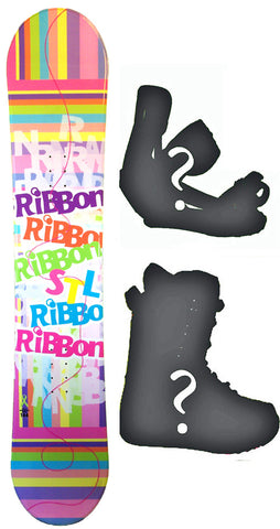 140cm  Stella Ribbon Rocker Snowboard, Build a Package with Boots and Bindings