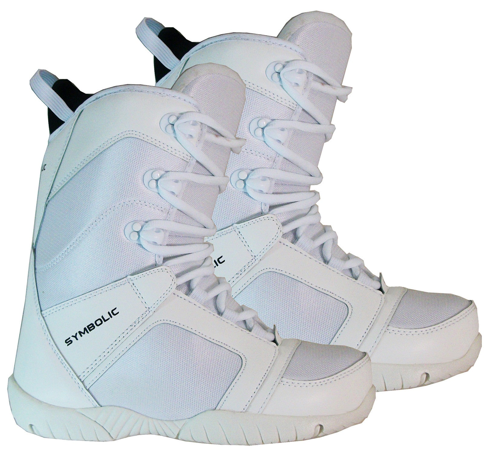 Symbolic White-Ultra Light Mens Snowboard Boots Size 5 6 7 8 9