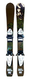 80cm Eco Tribal Jr. Blem Skis With Tyrolia SX 4.5 Bindings. Fit 221-241mm