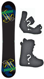 153cm  Technine Camrock Black Rocker Snowboard, Build a Package with Boots and Bindings