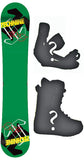 153cm  Technine Camrock Green Rocker Snowboard, Build a Package with Boots and Bindings
