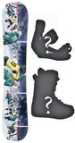 153cm  Technine Dylan Thompson Hockey Rocker Snowboard, Build a Package with Boots and Bindings