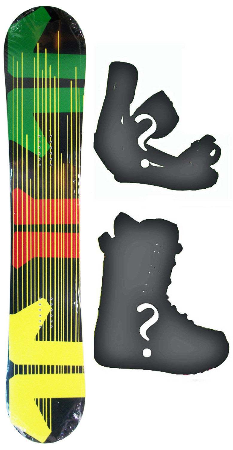 156cm  Technine Icon Rasta W-Camber Snowboard, Build a Package with Boots and Bindings
