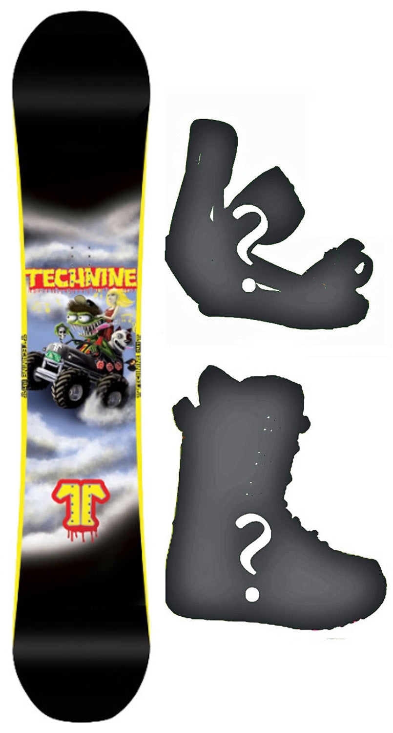 150cm  Technine LM Pro Monster W-Rocker Snowboard, Build a Package with Boots and Bindings