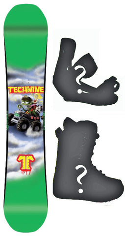 147cm  Technine LM Pro Monster Rocker Snowboard, Build a Package with Boots and Bindings