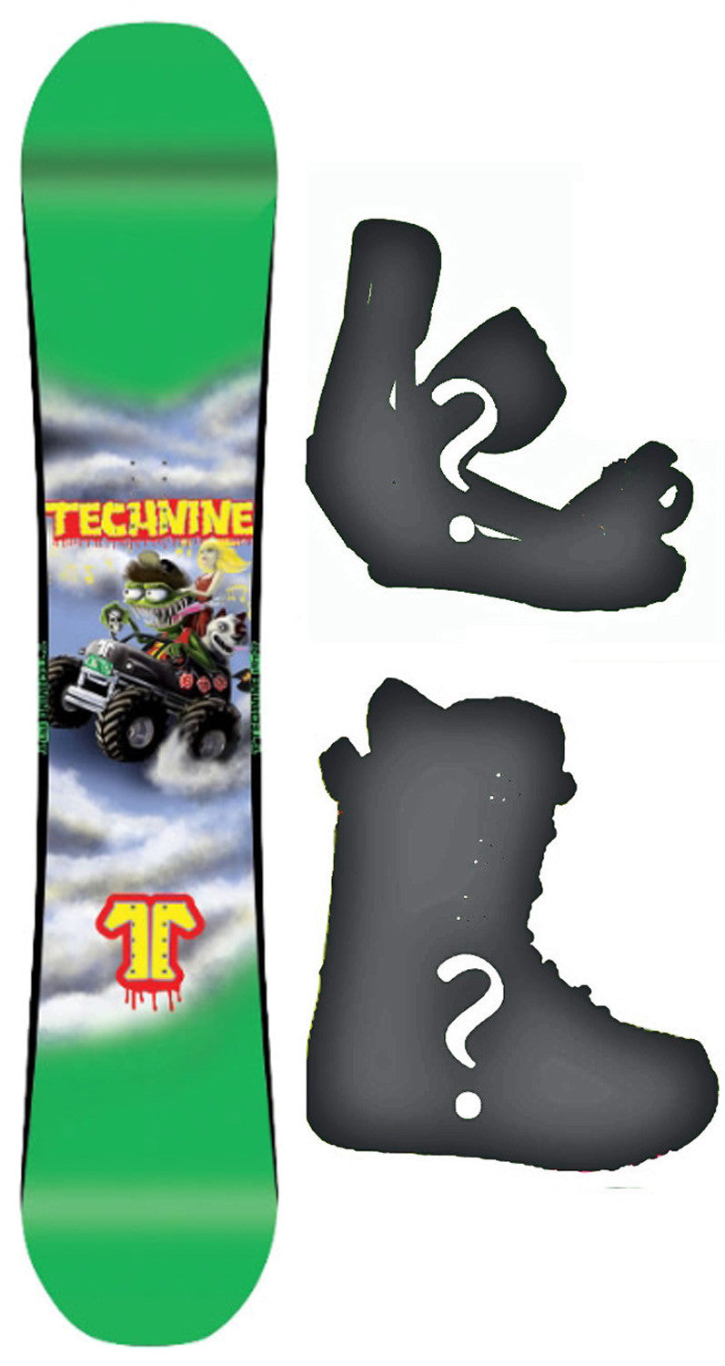 149cm  Technine LM Pro Monster Rocker Snowboard, Build a Package with Boots and Bindings