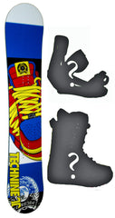 135cm  Technine Mass Appeal Jacks Sneakers Camber Snowboard, Build a Package with Boots and Bindings