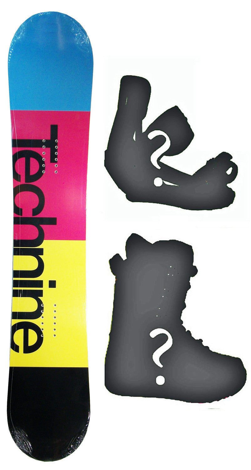 140cm  Technine Spectrum Rocker Snowboard, Build a Package with Boots and Bindings