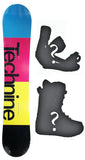 154cm  Technine Spectrum Rocker Snowboard, Build a Package with Boots and Bindings