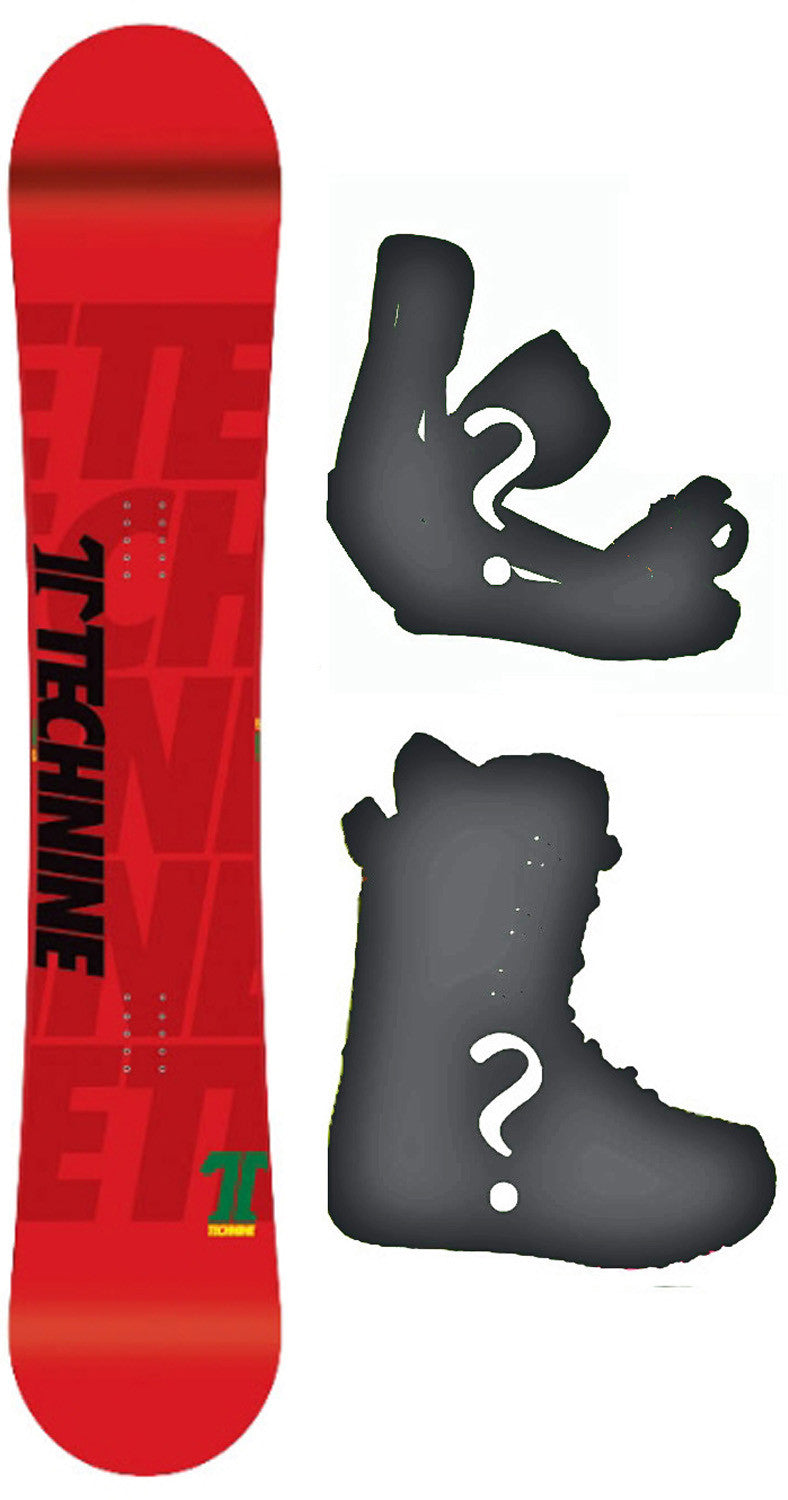 153cm  Technine T-Money Red W-Camber Snowboard, Build a Package with Boots and Bindings