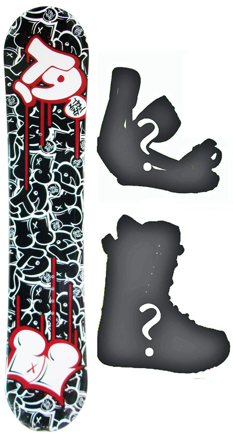 140cm  Technine Young Gun W-Rocker Snowboard, Build a Package with Boots and Bindings
