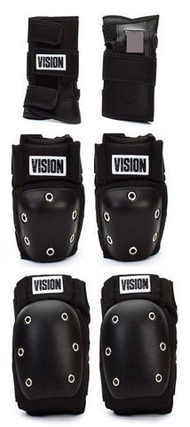 Vision Skateboard Snowboard Inline skate Protection Pads Set wrist knee elbow