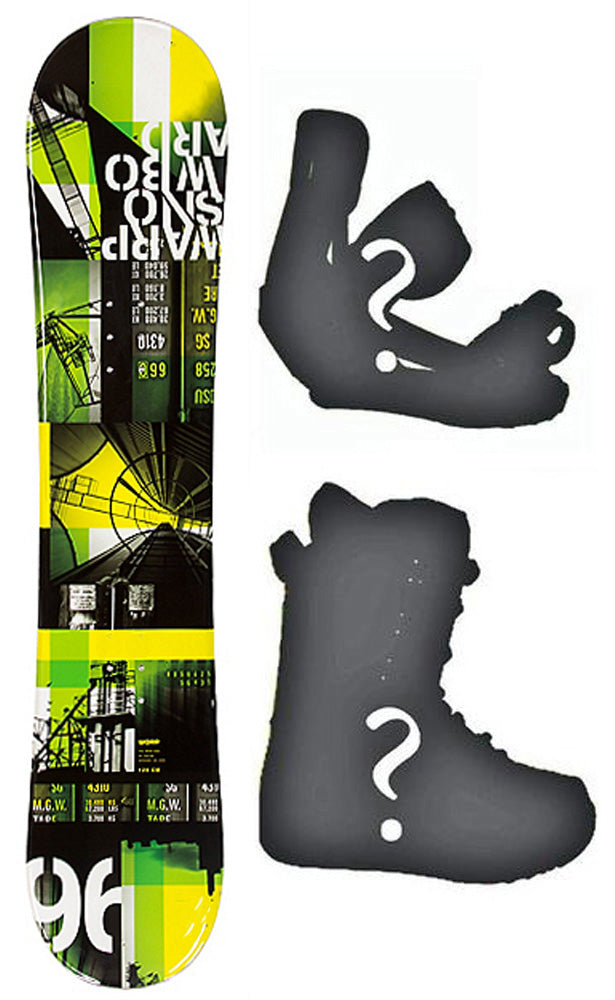 120cm Warp Urban Rocker Girl Snowboard, Build a Package with Boots and Bindings.