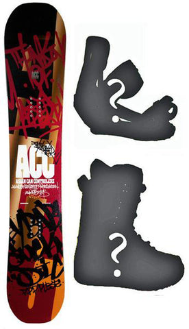 144cm ACC Poison W-Rocker Snowboard, Build a Package with Boots and Bindings.