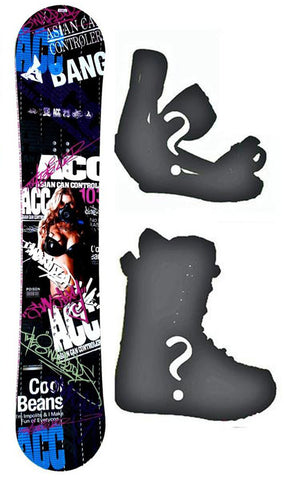 140cm ACC Poison Rocker *Blem* Snowboard, Build a Package with Boots and Bindings.