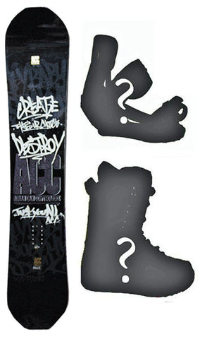 140cm ACC Rize Camber *Blem* Snowboard, Build a Package with Boots and Bindings.