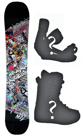 140cm ACC Rize Rocker Snowboard, Build a Package with Boots and Bindings.