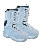 Airwalk Butte Kids Gray Blue Snowboard Boots Size 5.5
