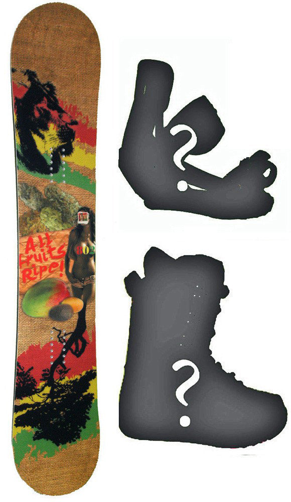 156cm 802 MMJ - 420 Rocker Snowboard, Build a Package with Boots and Bindings