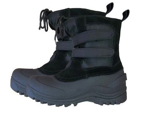 AMS Velcro Snow Boots Sizes 2 3 4 5  Black