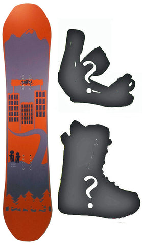140cm Antone Malfer's Brother Rocker Snowboard, Build a Package with Boots and Bindings.
