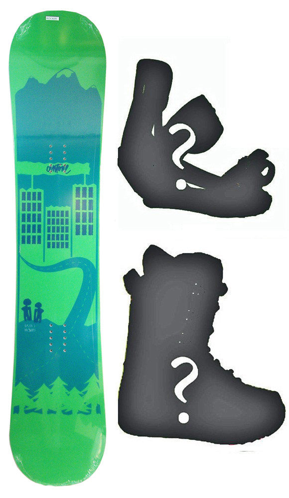 150cm Antone Malfer's Brother Rocker Snowboard, Build a Package with Boots and Bindings.