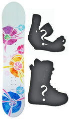 115cm Avalanche Divane Girls Rocker Snowboard, Build a Package with Boots and Bindings.