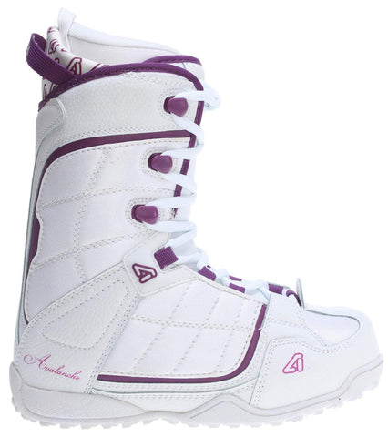 Avalanche Eclipse Womens Snowboard Boots Size 7 White Purple