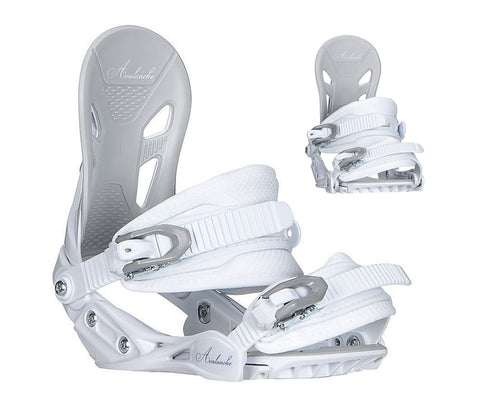 Avalanche Serenity Women's Snowboard Bindings M L White *BLEM*