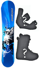 115cm Black Dragon Motor Cross Camber Snowboard, Build a Package with Boots and Bindings.