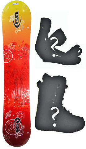 140cm Black Dragon Orbital Red Rocker Snowboard, Build a Package with Boots and Bindings.