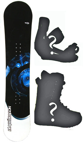 140cm Black Dragon Orbital Rocker Snowboard, Build a Package with Boots and Bindings.