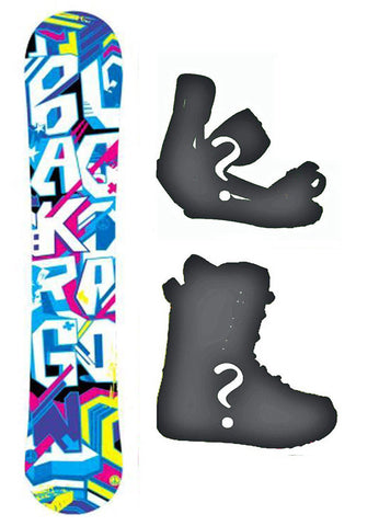 138cm Black Dragon Blur Rocker Snowboard, or Build a Package with Boots and Bindings