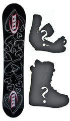 115cm Black Dragon Love Camber Snowboard, Build a Package with Boots and Bindings.