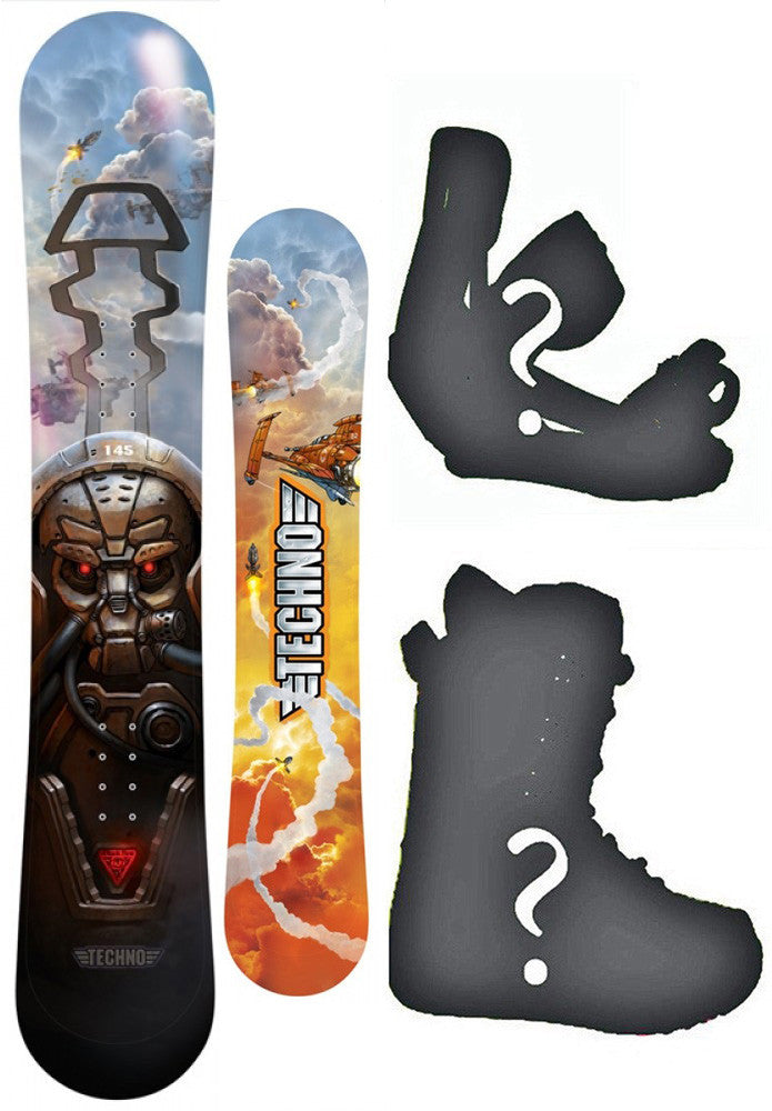 145cm Black Fire Techno Camber Snowboard, Build a Package with Boots and Bindings.