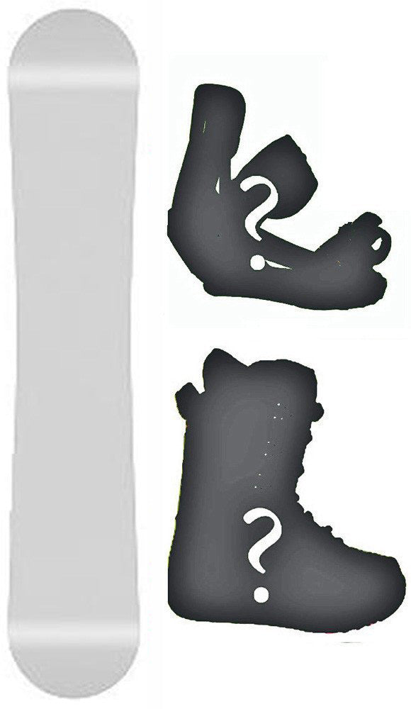 172cm Blank White Camber Snowboard, Build a Package with Boots and Bindings