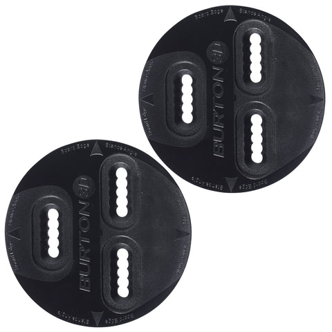 Burton 3D 3 Hole Mounting Replacement Discs (Pair) Black