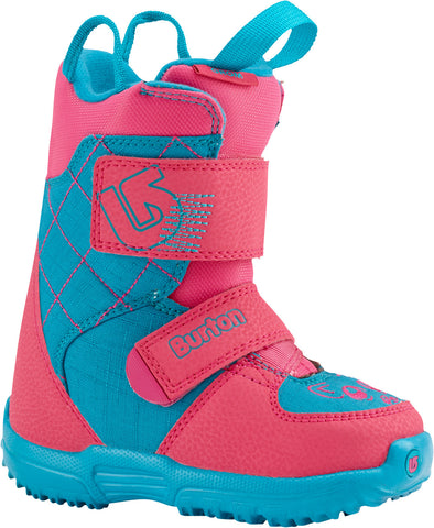 Burton Mini Grom 2016 Kids Room To Grow Snowboard Boots Size c12-13c Pink Blue girls