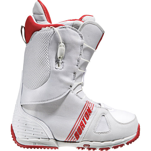 $280 Burton Ozone Grey White Red Mens Used Snowboard Boots 10