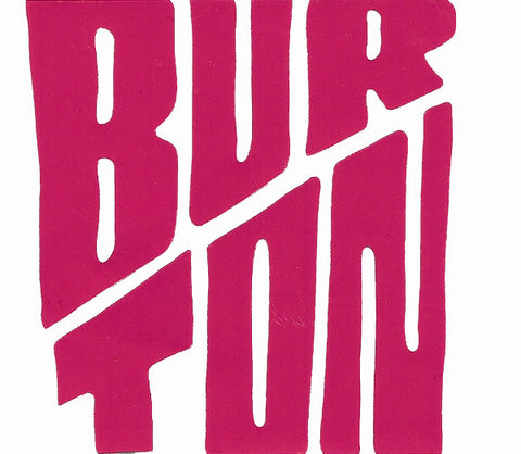 "Burton Snowboard Sticker Breast Cancer Pink Die Cut Collection 3""x3"" #11"