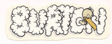 "Burton Snowboard Sticker Process Clouds 5.5""x2"" #13"
