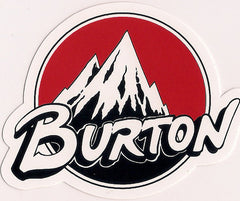 "Burton Snowboard Sticker Backhill Vintage Red 3""x2.5"" #21"
