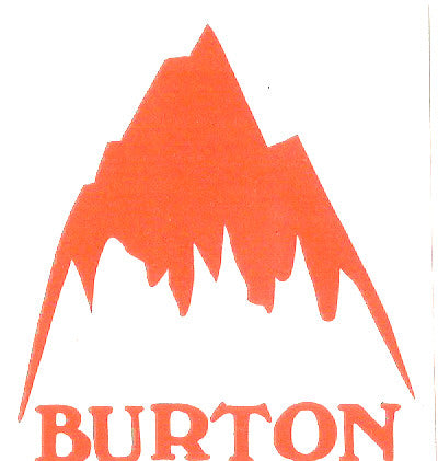 "Burton Snowboard Sticker Blender Orange 2x2"" #22"