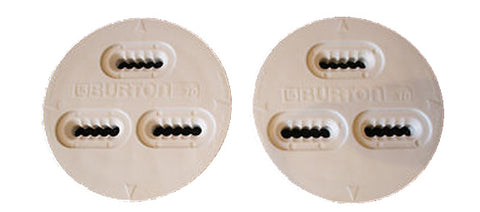 Burton 3D 3 Hole Mounting Replacement Discs (Pair) WHITE