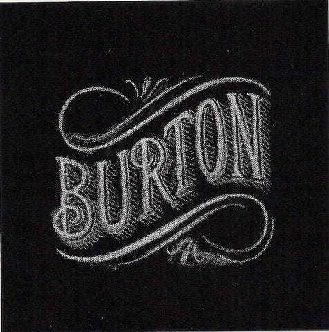 "Burton Snowboard Sticker Black & White Collection 3.5 x 3.5"" #8"