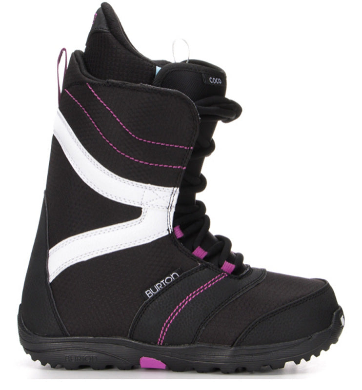 Burton Coco Women's Black Purple Lace Snowboard Boots 7