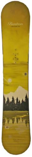 151cm Burton Cruzer Lake Yellow Used Snowboard Final Sale Rental