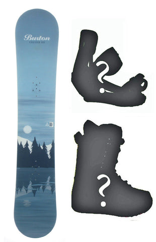 139cm Burton Cruzer Lake USED Snowboard, Build a Package with Boots and Bindings